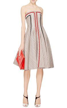 Paneled Tweed Jacquard Dress by Thom Browne - Moda Operandi