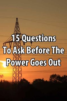 When disaster strikes, usually the first thing that happens is the power goes out. Before that happens, you need to ask yourself these questions.