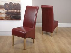 http://www.bonsoni.com/karas-bonded-leather-burgundy-chair-pair-by-sherman  Karas Bonded Leather Burgundy Chair (Pair) by Sherman is Our most popular dining chair - a classic bonded leather rollback design. Each chair has a sprung and belted seat area for additional comfort and to retain bounce and shape  http://www.bonsoni.com/karas-bonded-leather-burgundy-chair-pair-by-sherman