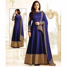 Indian Pakistani Anarkali Style Abaya Dress Freeship Salwar Kameez Embroidery #Indian #SalwarKameez #WeddingPartyWear
