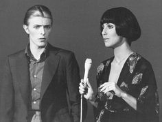 Cher y David Bowie en The Cher Show; 1975.