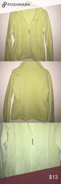 Columbia Jacket Columbia Jacket...gently used. Color is lime green.  I was a working professional in DC that recently retired. All my clothes were rarely used repeatedly and good quality.  Non-smoking home Columbia Jackets & Coats