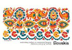 slovenske ludove kroje | Dizajn pohľadnice inšpirovaný vzorom výšivky z kútnej plachty z ...