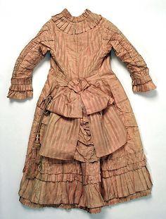 Dress Date: ca. 1876 Culture: British Medium: silk