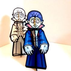 Dracula Vampire Monster Paper Doll Set - Printable Toy by PaperTownToys on Etsy