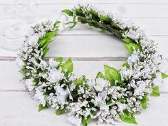 Baby's Breath Flower Crown Boho Wedding Adults