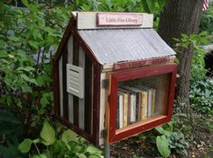 What a cool idea for having books available in various places! It's like being the Johnny Appleseed of literacy!