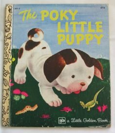POKY LITTLE PUPPY Vintage Little Golden Book  by by TheVintageRead, $4.95
