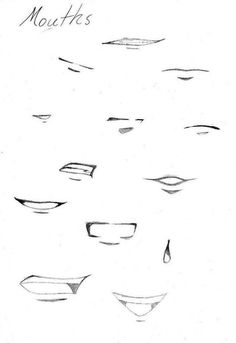 Anime/manga Mouths by on DeviantArt - Mund Zeichnen Manga Drawing Tutorials, Illustrator Tutorials, Drawing Techniques, Drawing Tips, Drawing Ideas, Drawing Sketches, Pencil Drawings, Drawing Classes, Pencil Sketching