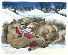 'Little Red Reading to the Wild Wolves' by Jackie Morris