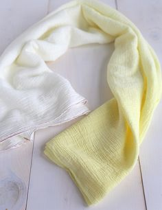 DIY  -  Tutorial / How to ombre dye a swaddle blanket (or any other fabric)