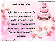 Las mejores tarjetas postales para quinceañeras de Feliz Cumpleaños para compartir gratis por Facebook, Instagram, Twitter y Google Plus a tus amigos. Frases y Mensajes. Compartir: Comentarios Happy 15th Birthday, Happy Birthday Wishes, Happy B Day, Happy Mothers Day, Bday Cards, Quinceanera Invitations, 50th Party, Zodiac Mind, Gowns