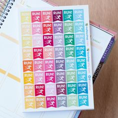 48 Running Flags- Workout // Sticker Planner by FasyShop on Etsy