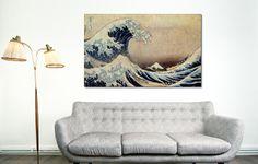 Decoración moderna con cuadro en lienzo