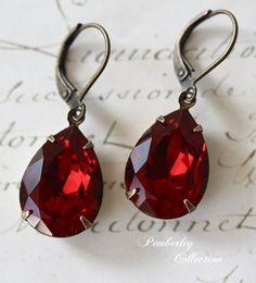 Rubx silver earrings