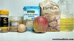 ingredientes galletas de avena,manzana y canela Sin Gluten, Nom Nom, Fruit, Breakfast, Healthy, Food, Canela, Healthy Breakfasts, Easy Food Recipes
