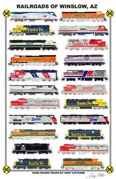 Posters Canada, Train Drawing, Vintage Trains, Trucks Only, Bonde, Burlington Northern, Railroad Photography, Train Art, Diesel Locomotive