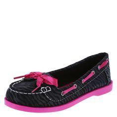 Girls' Liv and Maddie Buoy Boat Shoe, Black/Pink
