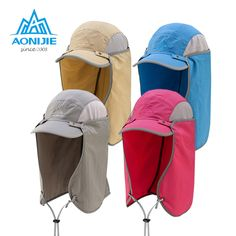 AONIJIE Men And Woman Outdoor Fishing Mountaineering Jungle For Neck Face  Protection Visor Wind Sand Cycling Folding Hat-in Fishing Caps from Sports  ... ac249267d1ff