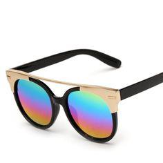 a3a0a91331cc Golden Framed Cat Eye Sunglasses