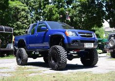 Chevy Colorado Trucks Lifted Blue