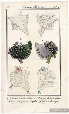 Le Journal des Dames et des Modes 1820 Costume Parisien N°1934