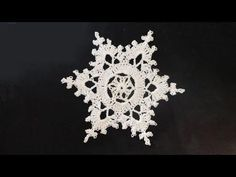 Video tutorial: crochet snowflake