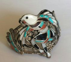 Rare ZUNI Handmade American Indian Bracelet Hand by BanditJewelry
