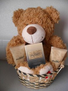 For every $30.00 direct delivery order you place on my website your name will be placed in a drawing to win this Curly the Bear Valentine's Day Gift Basket with Avon's newest perfume Instinct for her. Valued at $49.00. Shop today at www.youravon.com/tracyblau Avon Gift Baskets, Valentine's Day Gift Baskets, Gift Hampers, Valentines Day Baskets, Bear Valentines, Valentine Day Gifts, Christmas Crafts, Christmas Ideas, House Party