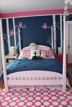 pink and blueBedroom walls for Teenage Girls | 25 Gorgeous Teen Girls' Room Ideas
