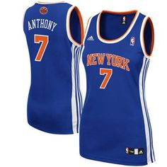 adidas Carmelo Anthony New York Knicks Womens Replica Jersey - Royal Blue