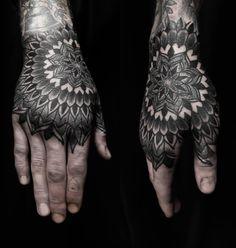 Hand dotwork tattoo