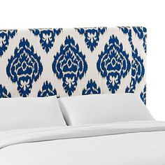 Indonesian Tapestry Upholstered Headboard-Queen