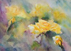 """Engaging Yellow"" watercolor 11""x15"" $600"