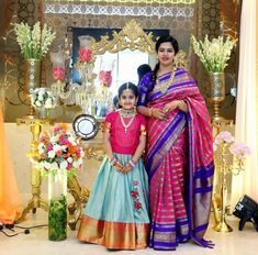 new ideas crochet baby girl outfits mom Kids Indian Wear, Kids Ethnic Wear, Half Saree Lehenga, Kids Lehenga, Kids Dress Wear, Baby Dress, Kids Wear, Frocks For Girls, Girls Dresses