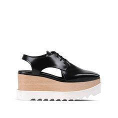 Black Elyse Cut-Out Shoes - Stella McCartney Bowling Shoes, Vegan Shoes, Platform Sneakers, Stella Mccartney Elyse, Shoe Collection, Wedge Sandals, Me Too Shoes, Fashion Shoes, Wedges