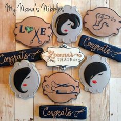 Congrats, Leanna on your one year anniversary! Sugar Cookie Icing, Sugar Cookies, Sweets Art, Strawberry Cookies, Cookie Bouquet, Beauty Spa, Grad Parties, Spa Day, Decoration