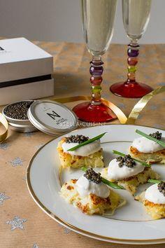 Recette de Toasts de galette de pommes de terre (rostis), crème aigre et caviar | StellA Cuisine !!! Recettes faciles, Recettes pas chères, Recettes rapides