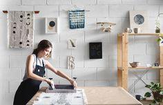 Brisbane artist Ellie Anderson in her studio at Work-Shop. Photo – Mindi Cooke for The Design Files.