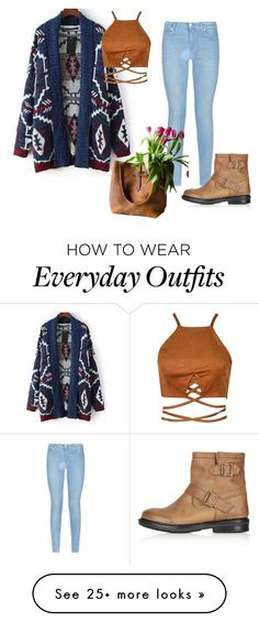 """Everyday outfit"" by explorer-14367189642 on Polyvore featuring 7 For All Mankind, Topshop and Relaxfeel"