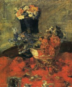 Flowers and vases. 1883. James Ensor 1860-1949