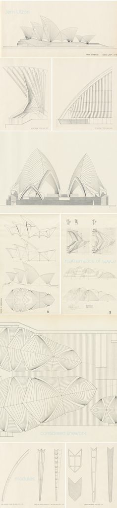 The spectacular drawings for the Sydney Opera House, Jørn Utzon (project) – Architecture – Ansicht Architecture Graphics, Architecture Drawings, Amazing Architecture, Art And Architecture, Architecture Details, Chinese Architecture, Jorn Utzon, Planer Layout, Technical Drawing