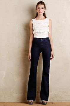 J Brand 2387 Tailored High-Rise Flare Jeans - anthropologie.com