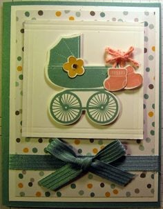 Crafty Maria's Stamping World: Baby Carriage card