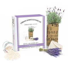 There is nothing better than drawing a warm bath and relaxing after a long day. The Urban Agriculture Lavender Bath Infusion Kit helps to bring the calming spa experience home. Simply grow your herbs, build your infusion, and let the relaxation begin. Perfect for gift-giving or self-splurging! Includes Organic Grow, Bath Salts, Cheese Cloth. Made in the USA. #spadayathome #selfpampering #urbanrenewal #belladoraspa #belladora #bathinfusion #bathkits