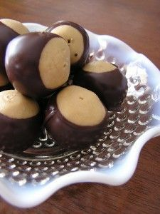 peanut butter balls - They are almost in season.