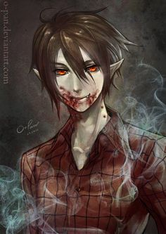 Sexy Marshall Lee Anime | Marshall Lee drink blood by o-pan on deviantART