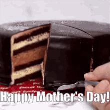 A beautiful cake video with text mother day to wish all moms online. Sister Friends, Mom And Sister, Happy Mother's Day Gif, Mothers Day Gif, Cake Videos, Custom Wallpaper, Beautiful Cakes, Chocolate, Chocolates
