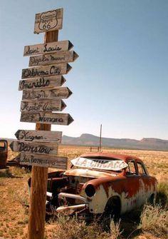♫....You'll see Amarillo, a-Gallup, New Mexico Flagstaff, Arizona, don't forget Winona Kingman, Barstow, San Bernardino....♫