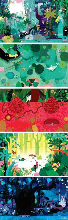 Lucie Brunellière é o autor deste trabalho. Escolhi-o pelas cores berrantes ultilizadas e pela quantidade de traço.